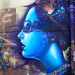 """Blue Lady"" Kensington Market Street Mural – Toronto, Ontario – Photo"