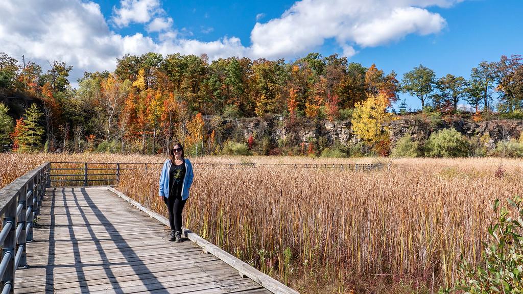 Lauren hiking at Kerncliff Park
