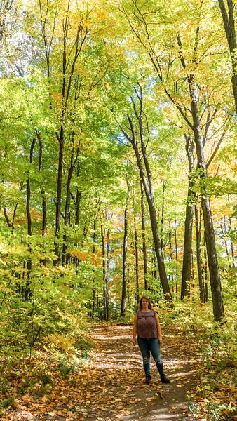 My friend Shannon on the Ian Reid Side Trail