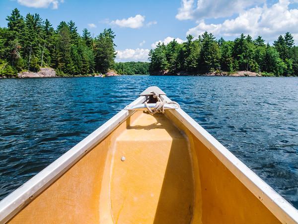 Canoing in Killarney Provincial Park, Ontario, Canada