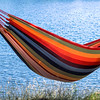 Relaxing in a hammock in Killarney Provincial Park, Ontario