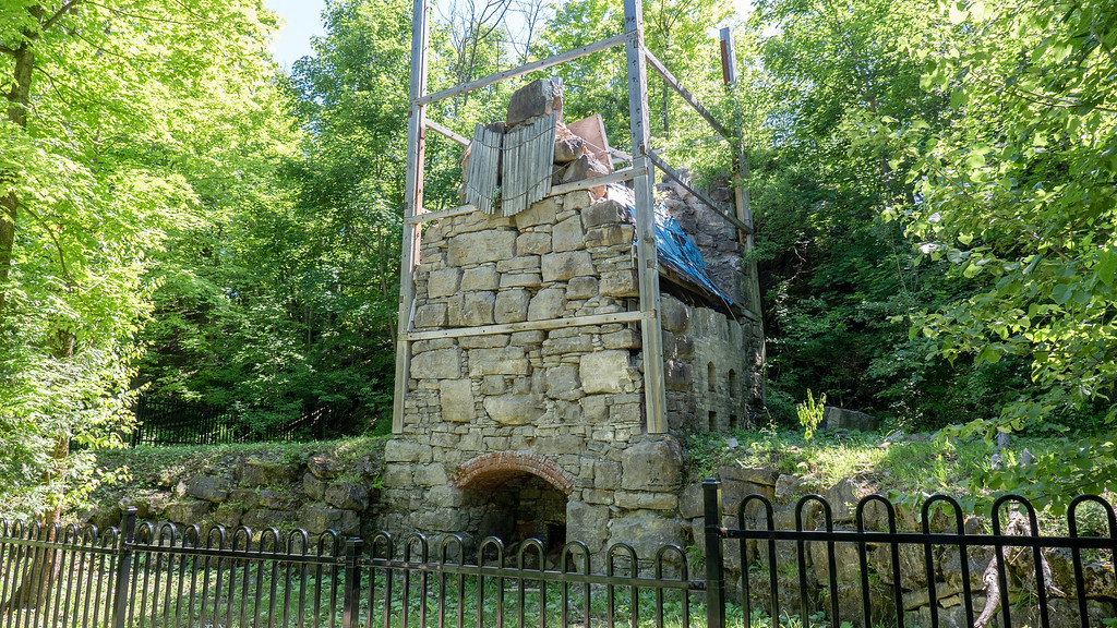 Old lime kiln on the Bruce Trail