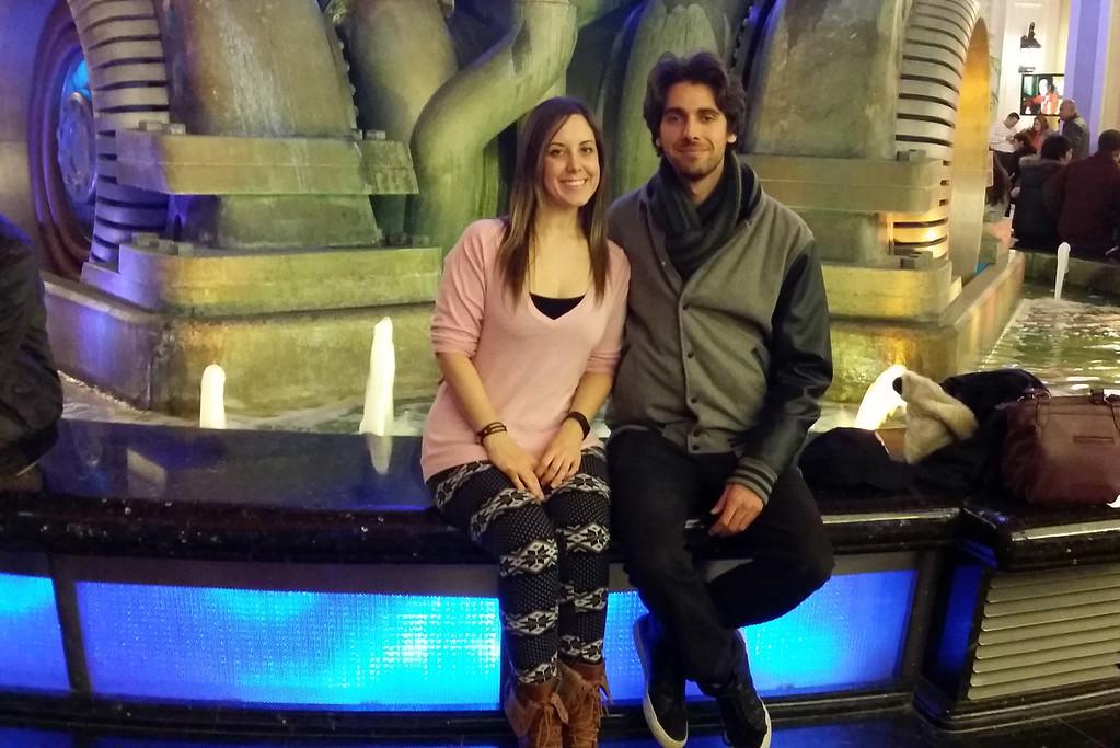 Justin and Lauren at Fallsview Casino