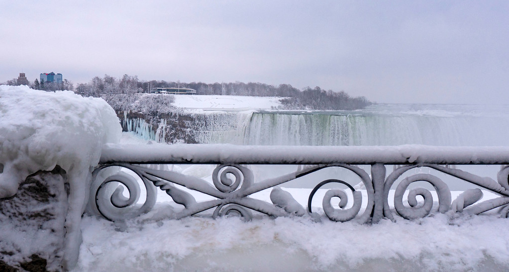 Niagara Falls Winter - Canadian Falls in February January March