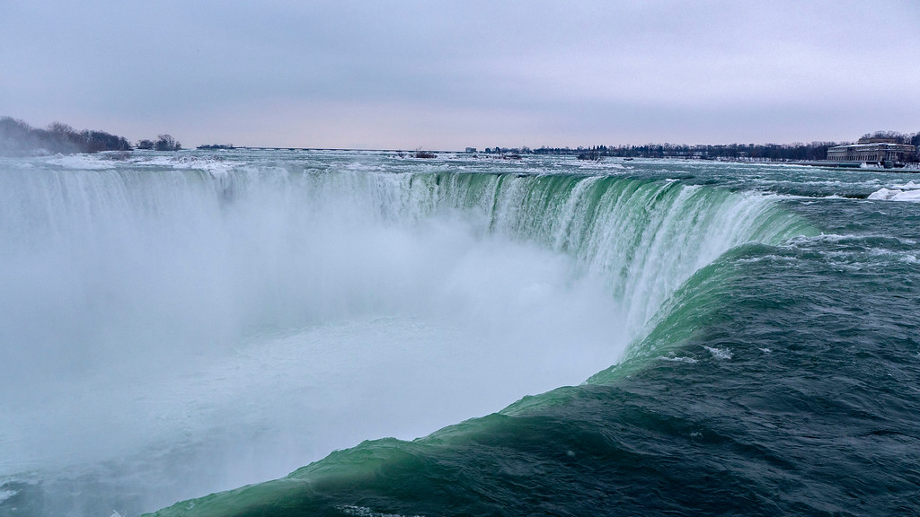 The Horseshoe Falls in the Winter, Niagara Falls, Canada