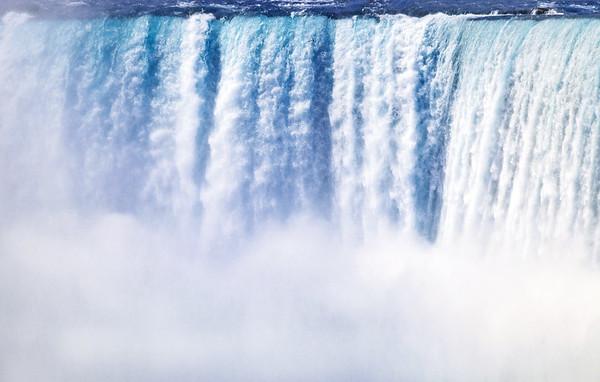 Close-up of the Horseshoe Falls in Niagara Falls