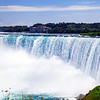 Water flowing over the Horseshoe Falls in Niagara Falls