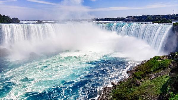 The Horseshoe Falls in Niagara Falls