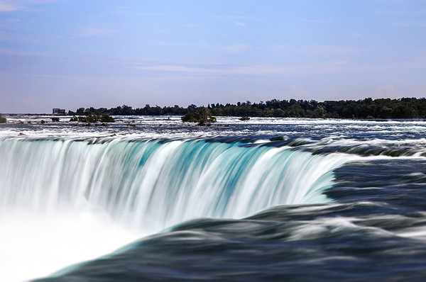 Water flowing over Niagara Falls