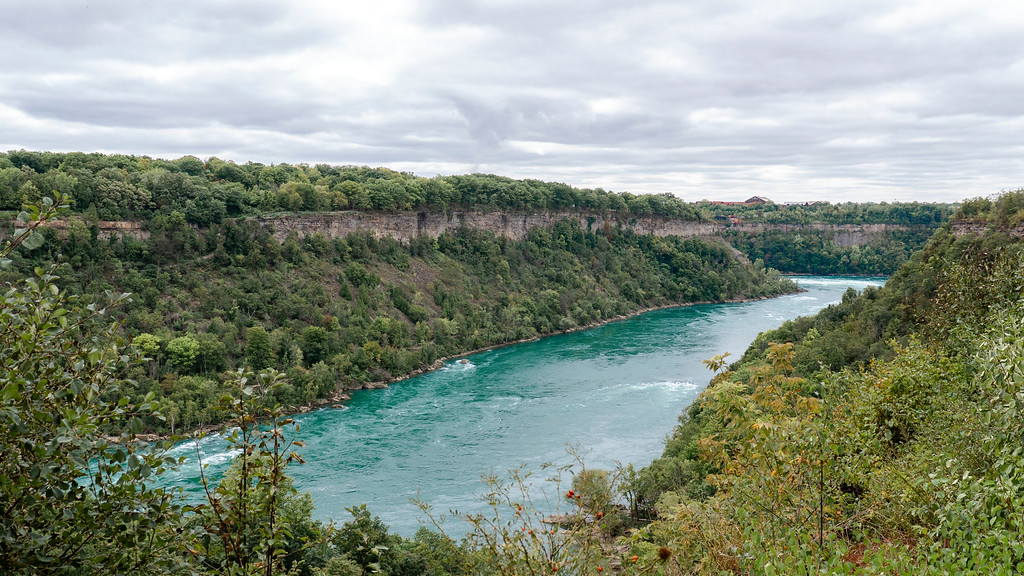 The Niagara Gorge and escarpment and the Niagara River