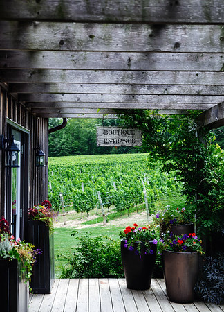 Boutique and vineyard at the Thirty Bench Wine Maker winery