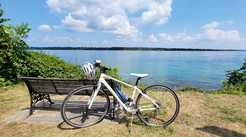 Bicycle by the Niagara River
