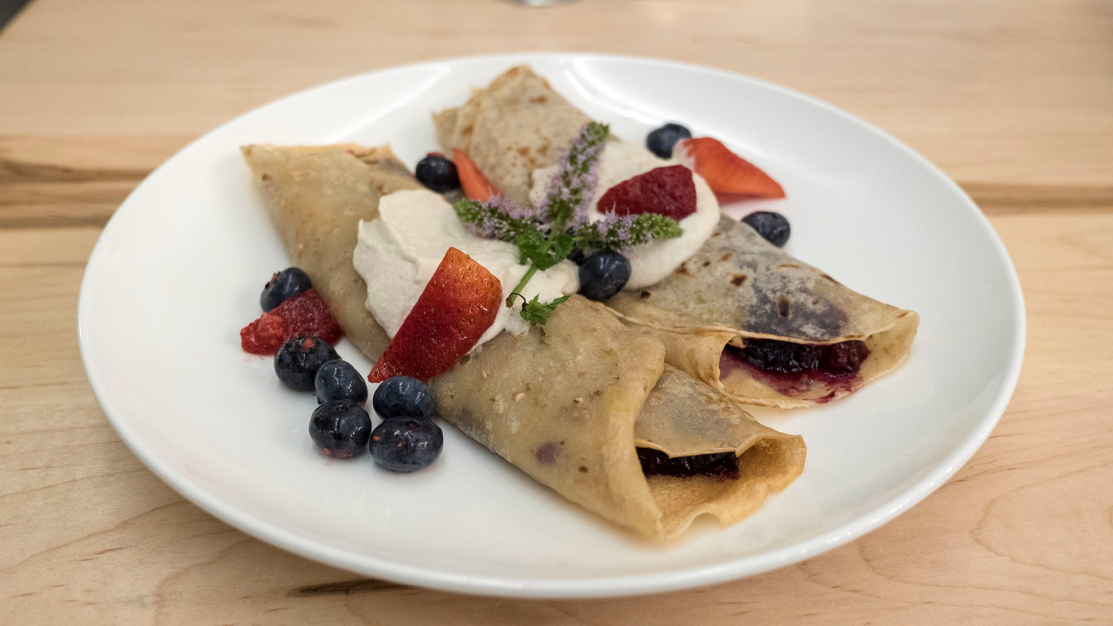 Vegan crepe at Barrel Bistro. Grand Bend Vegan and Vegetarian Restaurant Guide.