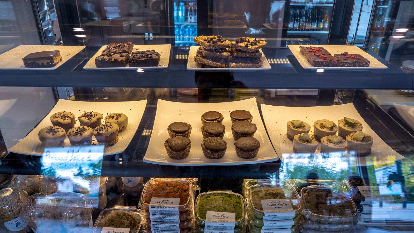 Highway Girl - vegan and raw dessert shelf. Grand Bend Vegan and Vegetarian Restaurant Guide.