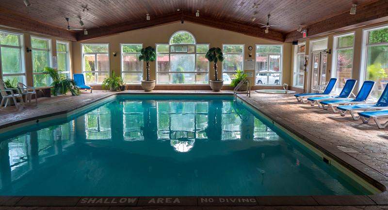 Indoor pool at Oakwood Resort in Grand Bend, Ontario, Canada.
