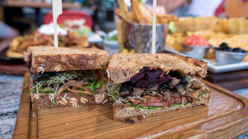 Toasted Veggie Sandwich at Match Eatery. Point Edward / Sarnia, Ontario, Canada.