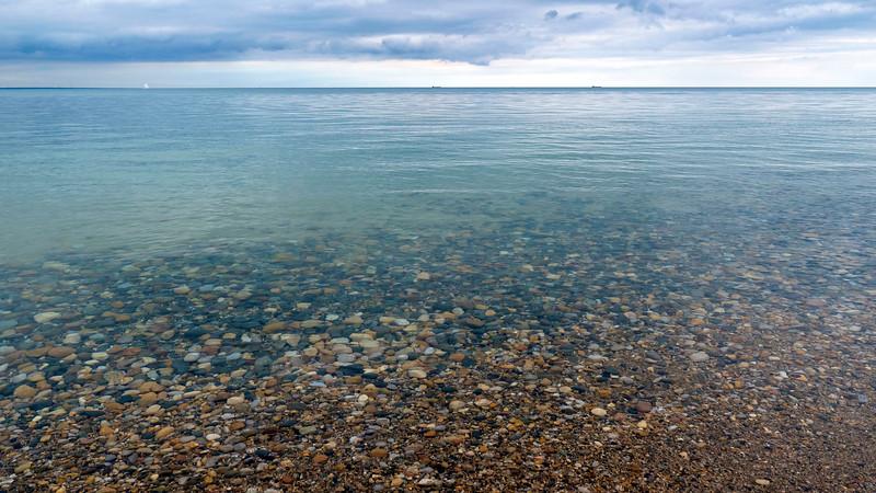 Canatara Beach and Park, Ontario's Blue Coast. Sarnia, Ontario. Crystal clear waters of Lake Huron.