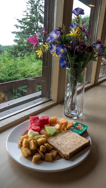 Buffet breakfast at Oakwood Resort in Grand Bend, Ontario, Canada.