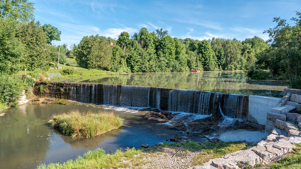 The Otterville dam / Otterville waterfall