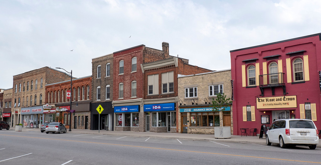 The town of Mitchell in West Perth, Perth County Ontario