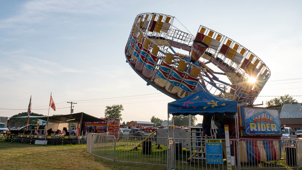 Midway at the Listowel Agricultural Fair in Perth County