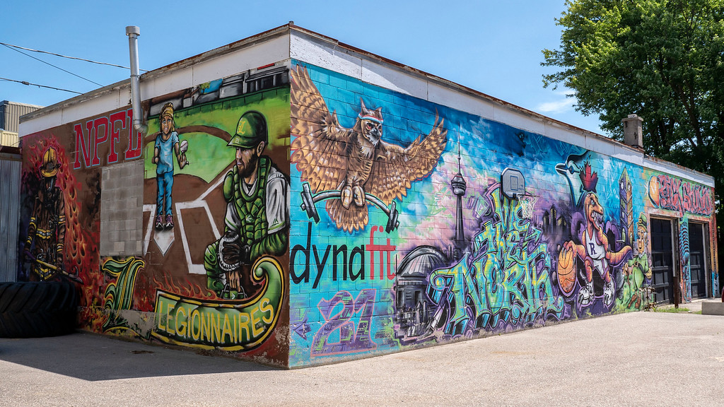 Street art and colorful murals in Listowel Ontario (Perth County)
