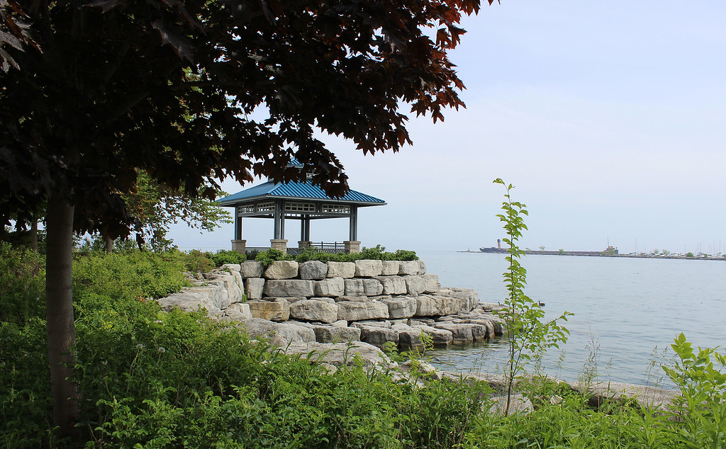 The Waterfront Trail at Lake Ontario through Port Credit, Mississauga