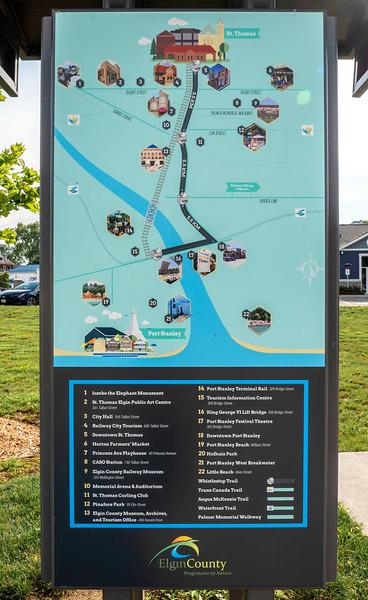 Bike trails in Elgin County