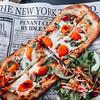 Flatbread pizza at La Pergola Restaurant at the Casa-Dea Estates Winery in Prince Edward County, Ontario.