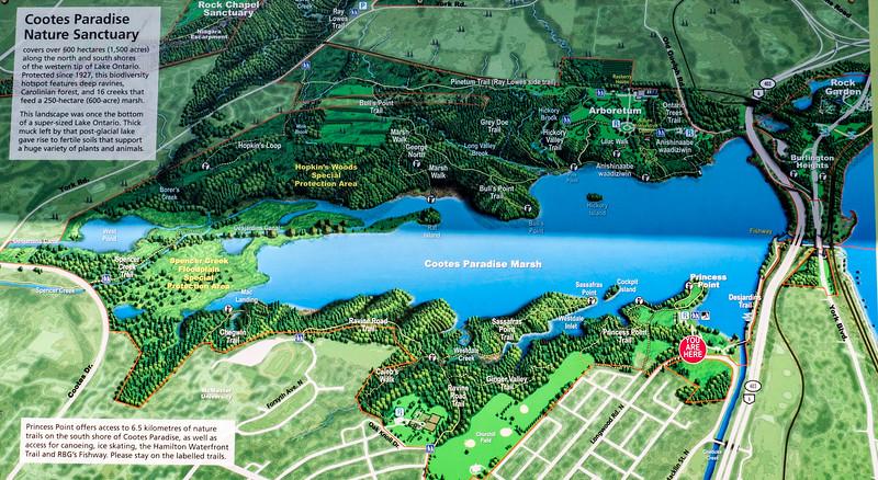 Princess Point Trail Map