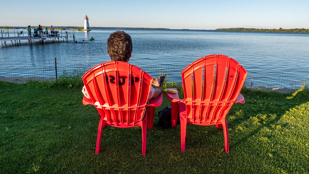 Muskoka chairs on Lake Simcoe