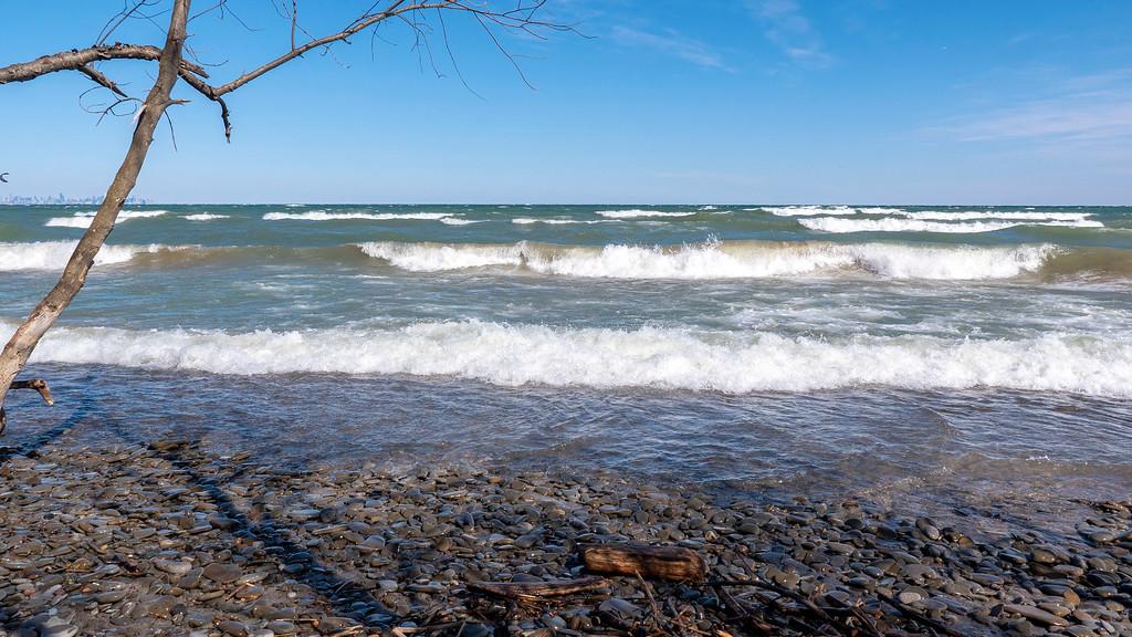 Lake Ontario in Port Credit Ontario