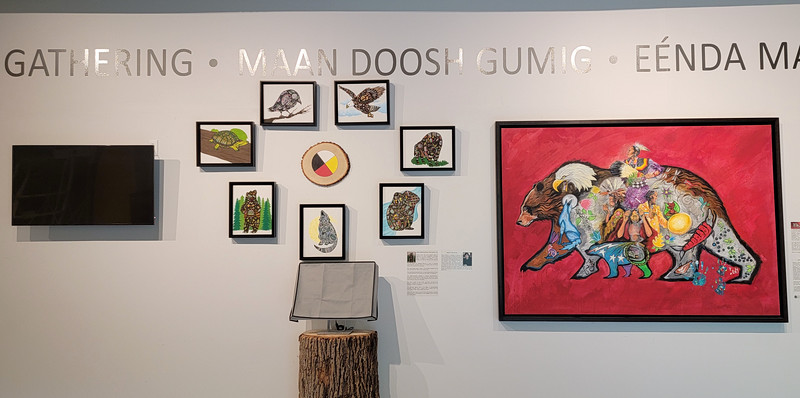 Display in collaboration with  Aamjiwnaang First Nations, Eelünaapèewii Lahkèewiit and the Caldwell First Nations