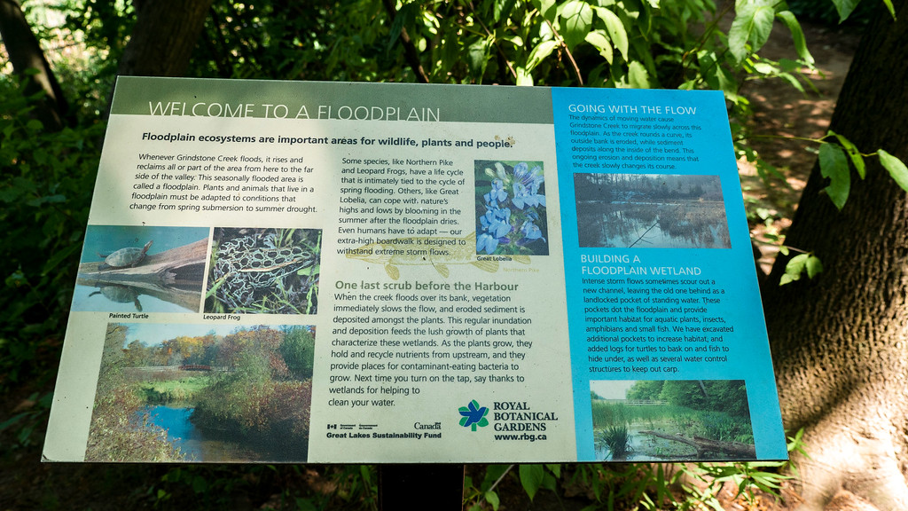 Educational plaques on the RBG trails