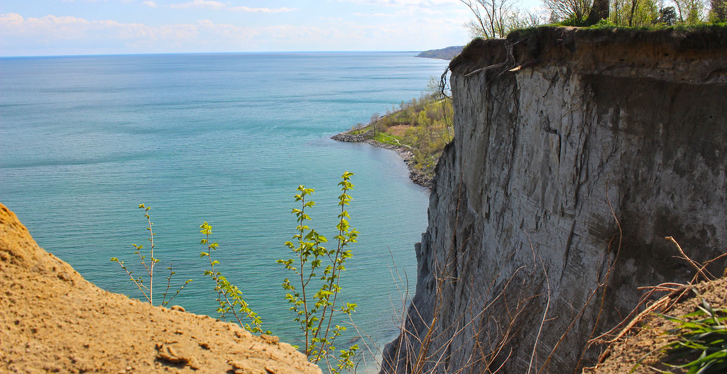 Cliffs at Scarborough Bluffs in Toronto