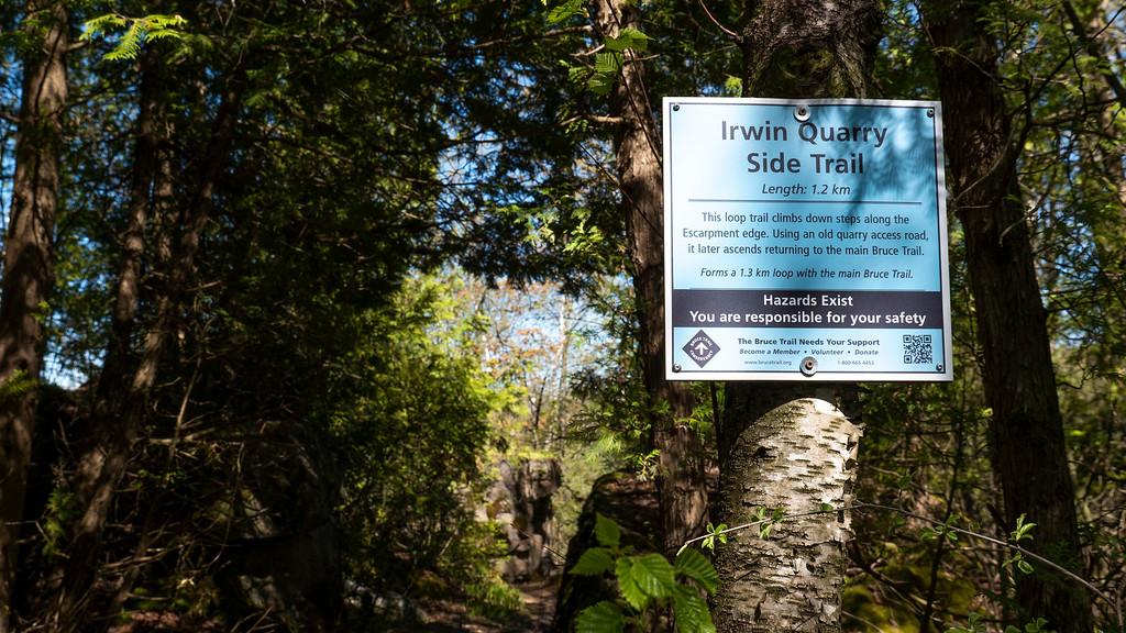 Irwin Quarry Side Trail - Bruce Trail