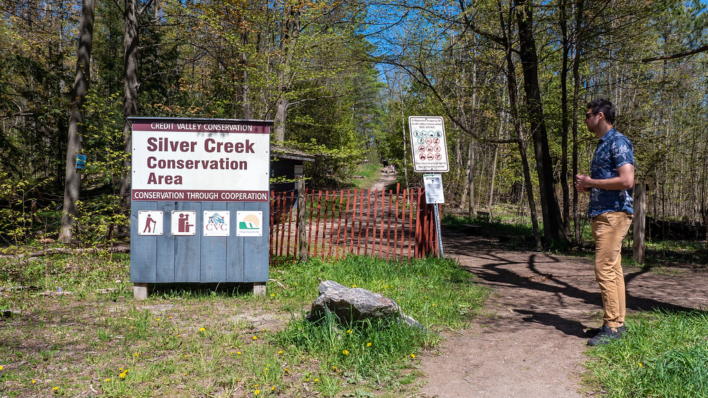 Hiking at Silver Creek Conservation Area