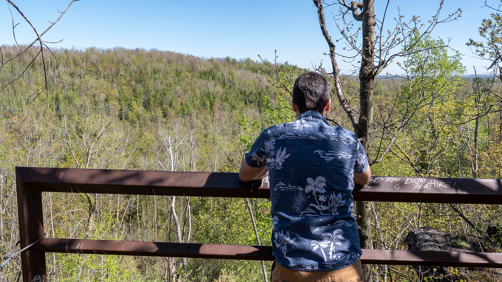 Scenic lookout on the Bruce Trail