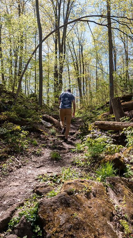 Spring hiking in Halton Hills, Ontario