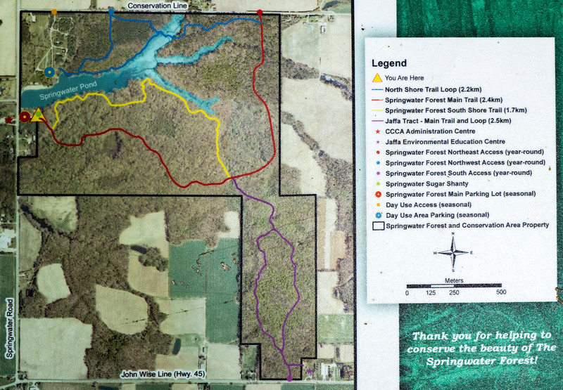 Springwater Conservation Area trail map