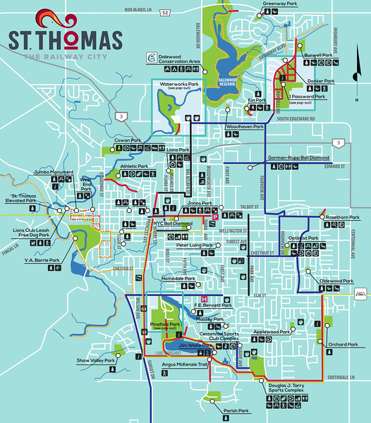 Parks and Paths in St Thomas Ontario