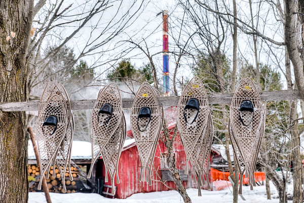 Snowshoes at the Sugar Shack