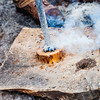Wood burning at the Sugar Shack