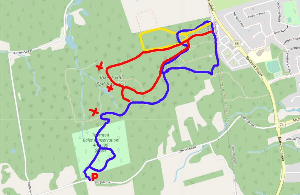 Thornton Bales Conservation Area & Jokers Hill Map