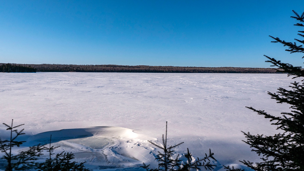 Frozen Mary Louise Lake in the Winter - Sleeping Giant Provincial Park