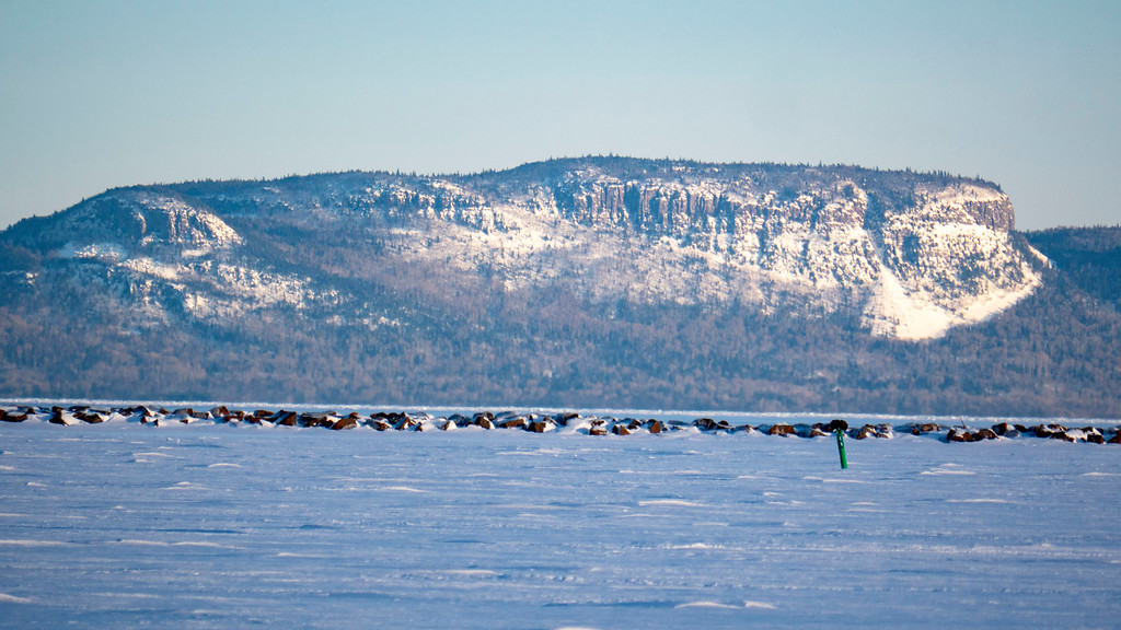 Thunder Bay waterfront in the winter - Sleeping Giant