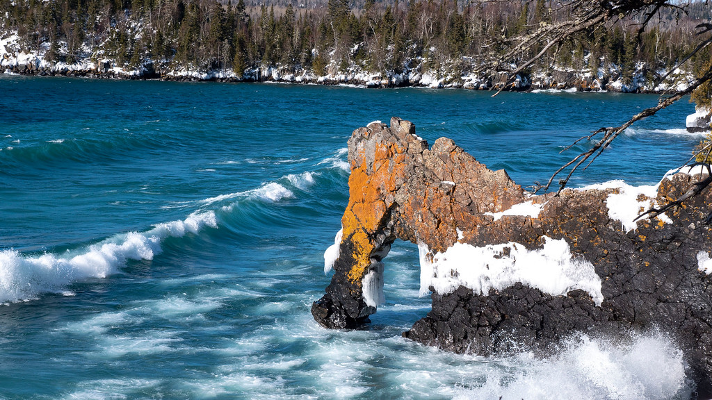 Thunder Bay in Winter: Sea Lion rock formation at Sleeping Giant Provincial Park