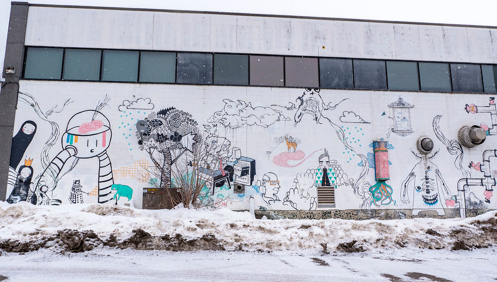 Street art and murals in Thunder Bay Ontario