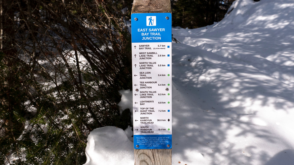 Trail markers at Sleeping Giant