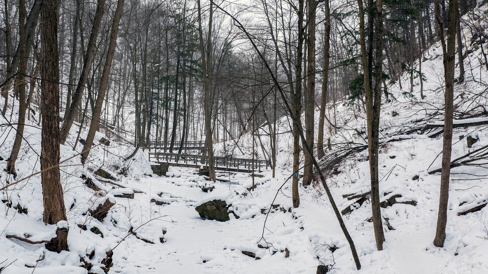 Tiffany Falls in Winter - Hamilton, Ontario, Canada (Ancaster)